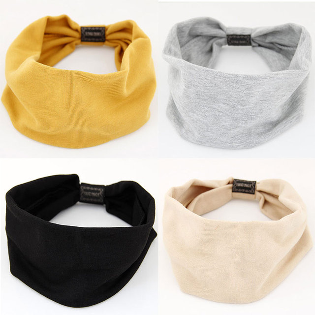 Big Wide Cotton Headband for Women Hair Accessories Fashion Solid Color Hairbands Korean Soft Head Band Girl Sport Turban