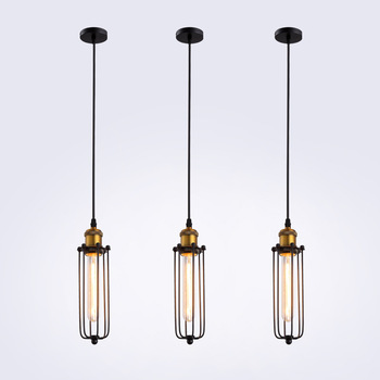 Industrial Style Retro Restaurant Led Pendant Lights Single-Head American Bar Cool Iron Dining Living Room Kitchen Hanging Lamp nordic led pendant lights retro industrial style coffee restaurant personality bar iron cage art hanging line lamp decoration