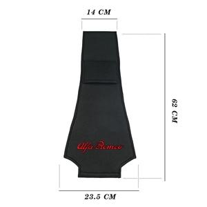Image 2 - 1/2PCS רכב משענת ראש כיסוי רכב לוגו כרית מגן מקרה עבור איטליה אלפא רומיאו Giulia ג ולייטה 159 156 קישוט רכב סטיילינג