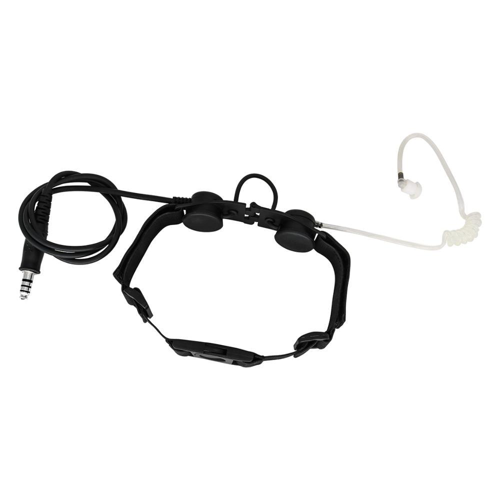 Tactical throat headset outdoor portable neckline tactical throat microphone vacuum sound CS headset +tactical PTT PELTOR PTT