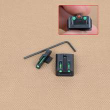 Tático real colt 1911 verde vermelho combo fibra óptica frente vista traseira conjunto para corte. 270 .450 arma 5