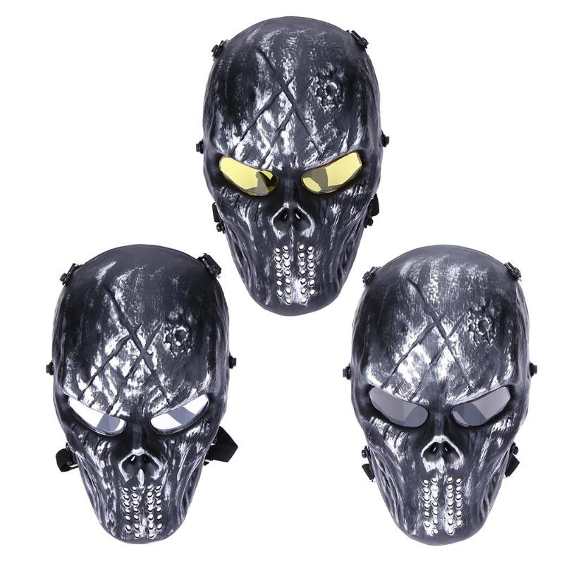 Party Shock Resistant PC Lens Skull Paintball Games CS Field Face Mask Hunting Military Tactical Cycling Full Face Protection image