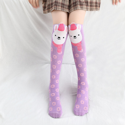 Носки для маленьких девочек; Хлопковые гольфы с изображением лисы; милые Гольфы с рисунком; детская одежда; носки для обуви для малышей; Носки с рисунком - Цвет: 5