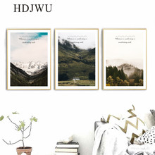 Nordic Canvas Home Painting Wall Picture Art Forest Printing Posters for Living Room Decor AJ00355