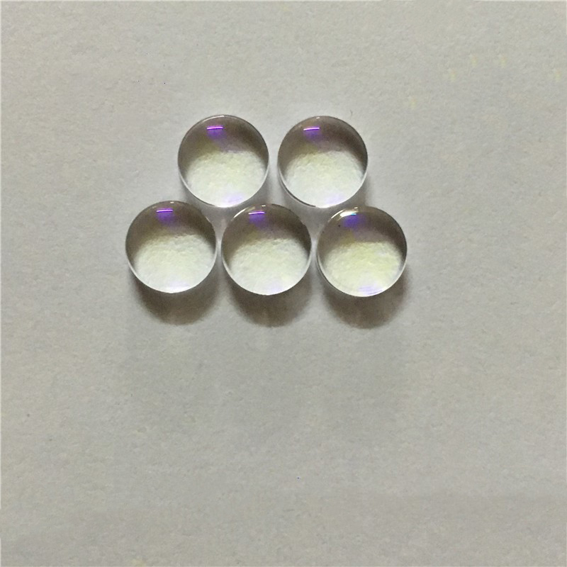 Aspheric Lens 8mm In Diameter   Thickness 4mm   Focal Length 4mm Glass Lens Coating 400nm-470nm Band