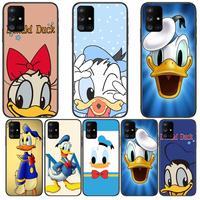 Donald Duck Interessante Telefoon Case Romp Voor Samsung Galaxy A50 A51 A20 A71 A70 A40 A30 A31 A80 E 5G S Zwart Shell Art Mobiele Cove
