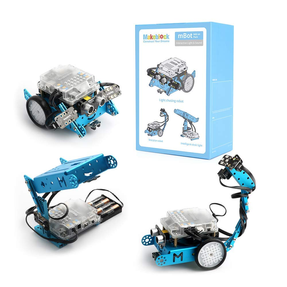 Makeblock Interactive Light & Sound Robot add on Pack Designed for mBot, 3 in 1 Robot Add on Pack, 3+ Shapes