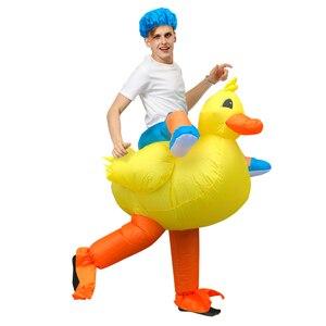 Image 4 - Disfraz inflable de pato para adulto, traje para pasear en la bañera, salir con baño, nadar
