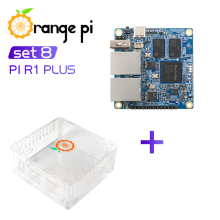 Orange Pi R1 Plus+White ABS Case,Router SBC OpenWRT with Dual GbE,1GB Rockchip RK3328,Support Android 9/Ubuntu/Debian OS