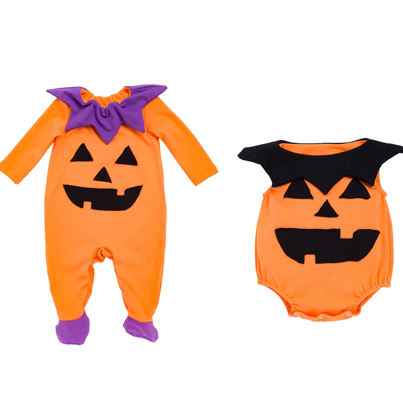 Better Quality Baby Halloween Outfit Baby Boys Halloween Pumpkin   Rompers   Long Sleeve Toddler Funny Clothes Infant Onesie