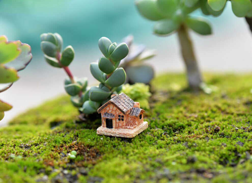 Mini Rumah Boneka Rumah Batu Resin Dekorasi untuk Rumah dan Taman Perbaikan Rumah DIY Rumah Dekorasi Aksesoris 30