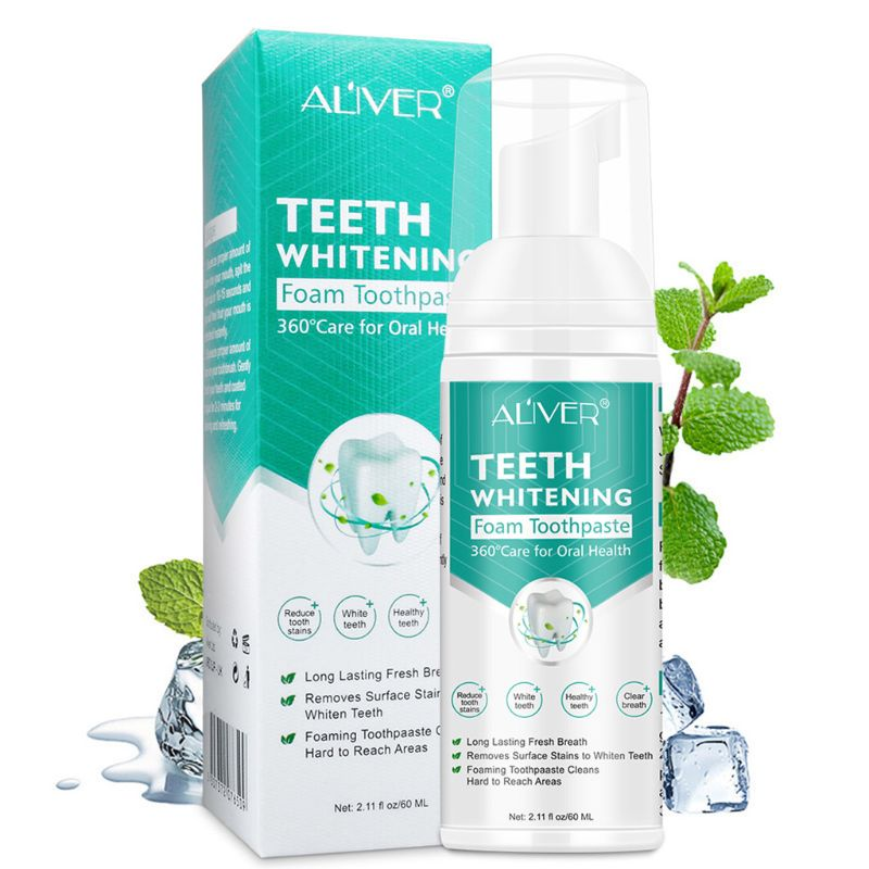 Toothpaste Whitening Foam Natural Mouth Wash Mousse Teeth Whitening Teethpaste Oral Hygiene Breath Dental Tool 60ml