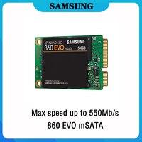 SSD SAMSUNG 860 EVO mSATA SSD Hard Drive HD SSD 1TB 500GB Internal Solid State Hard Disk 250GB 550Mbs HDD for Laptop Computer