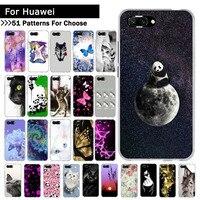 Para Huawei Honor 6A 8X cubierta del teléfono Fundas de silicona blanda teléfono Coque Fundas Capa para Huawei Honor 9 10 Lite