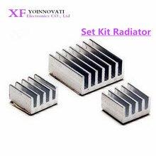 3 шт. + клейкий радиатор Raspberry Pi из чистого алюминия, набор радиаторов для охлаждения Raspberry Pi 2 B