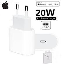 Oryginalna ładowarka 20W PD dla apple iPhone 12 Pro Max Mini USB-C C2L szybka ładowarka typu C QC4.0 dla iphone 11 XS
