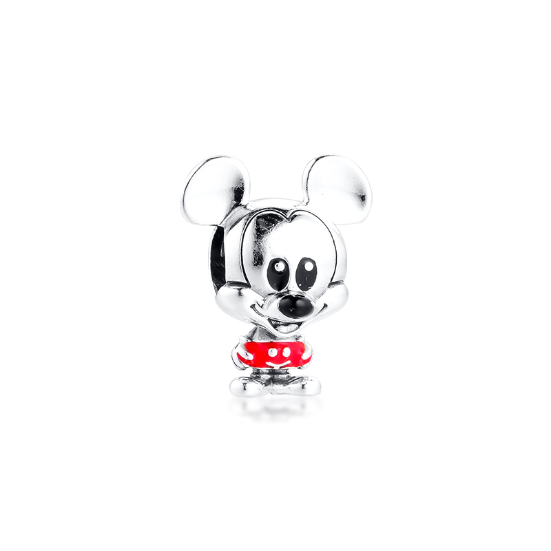 Charms Silver 925 Jewelry Baby Mouse Red Trousers Charm Fits European Fashion Bracelets Woman DIY Beads For Jewelry Making