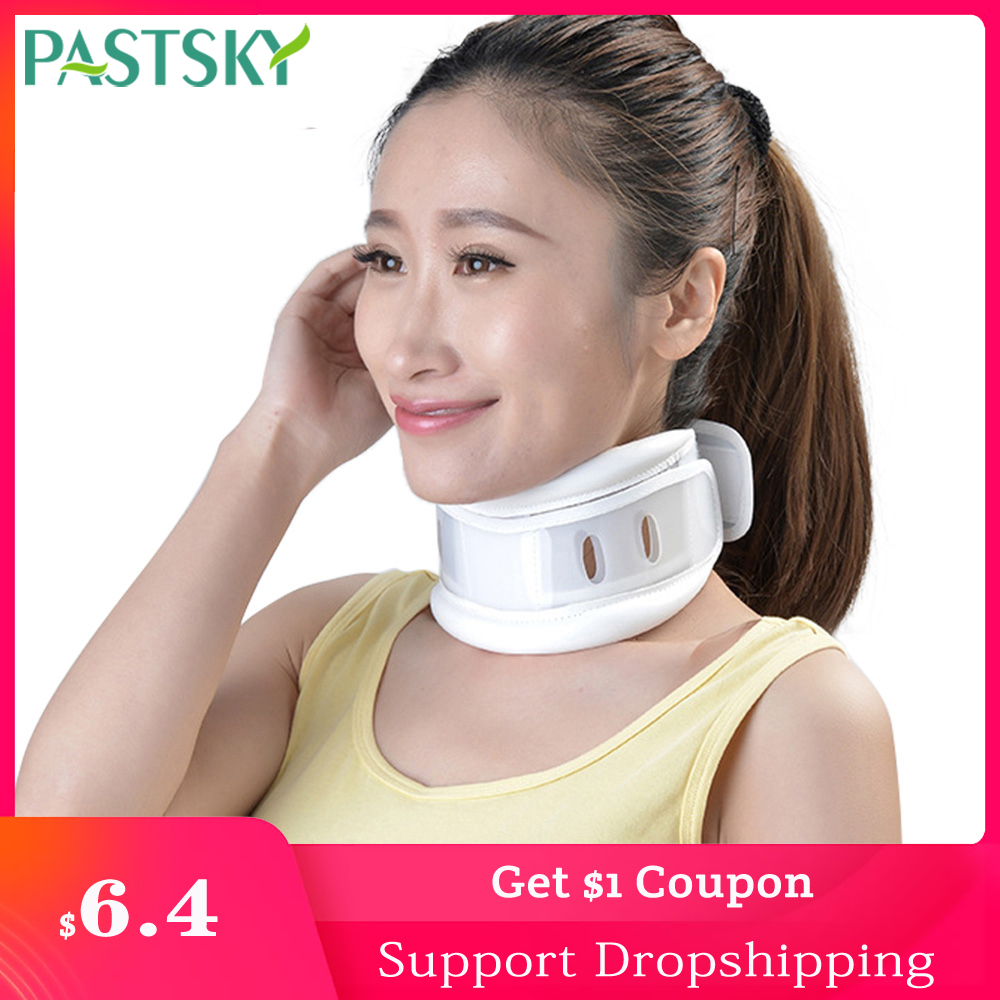 Medical Neck Tractor Collar Adjustable Breathable Brace White Cervical Spine Correction Traction Pain Relief Orthosis Support
