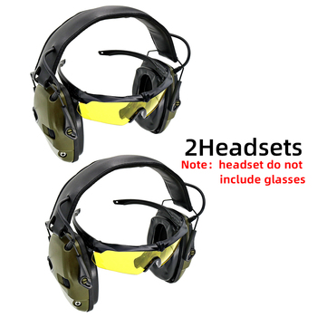 electronic shooting earmuffs anti-noise Sound amplification headset Tactical hunting headphone Sightlines Ear Pads
