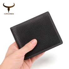 COWATHER wallet for men top quality cow genuine leather male