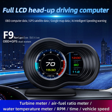 Obd + Gps Hd Auto Head Up Display Met Gps Navigatie Bluetooth Voorruit Snelheid Projector Security Alarm