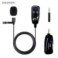 XIAOKOA UHF Lavalier Drahtlose Mikrofon Aufnahme Youtube Live Interview Mic für Iphone Android PC noise reduktion mikrofon