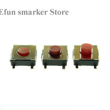 Push-Button Patch-Switch Light-Touch 5pin Micro SMD 5-Feet 6--6--2.5 Red 6x6