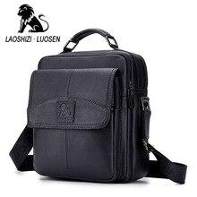 LASOSHIZI Brand Genuine Leather Business Top-Handle Handbag