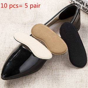 10Pcs=5Pair Shoes Insoles Insert Heels Protector Anti Slip Cushion Pads Comfort Heel Liners Cushion Pad Invisible Inserts Insole