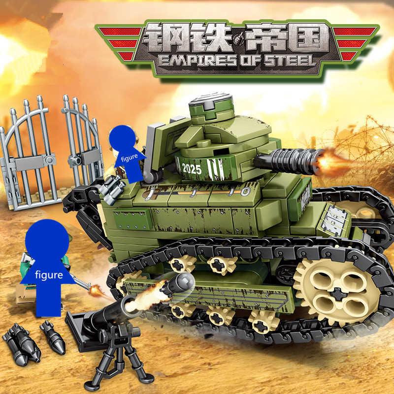 Empires de série en acier militaire Renault FT-17 blocs de construction de réservoir Figure briques modèle jouets éducatifs pour enfants compatibles