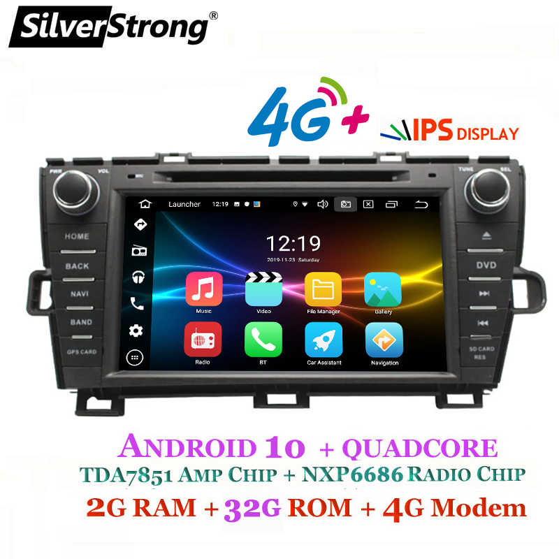 SilverStrong 8inch Android10.0 DVD Ô Tô cho Xe Toyota PRIUS DVD tay Trái tay phải Radio 4G modem WIFI PRIUS android 32GB DSP