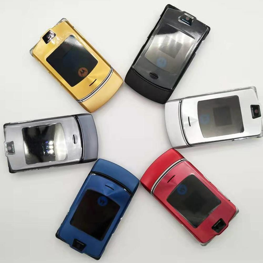Original Motorola Razr V3i 100% Unlocked Flip GSM Bluetooth MP3 Quad Band Mobile Cell Phone Refurbished Free Shipping