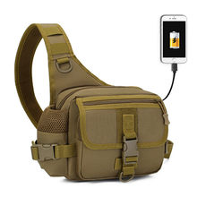 Tactical sling Bag USB Charging Army Military Bags Men Hiking Hunting Fishing Molle Backpack Camping Nylon Outdoor Sport Pack(China)