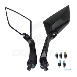 Image 5 - OUMURS Motorcycle Mirror Scooter E Bike Rearview Mirrors Electrombile Back Side Convex Mirror 8mm 10mm Carbon Fiber Universal