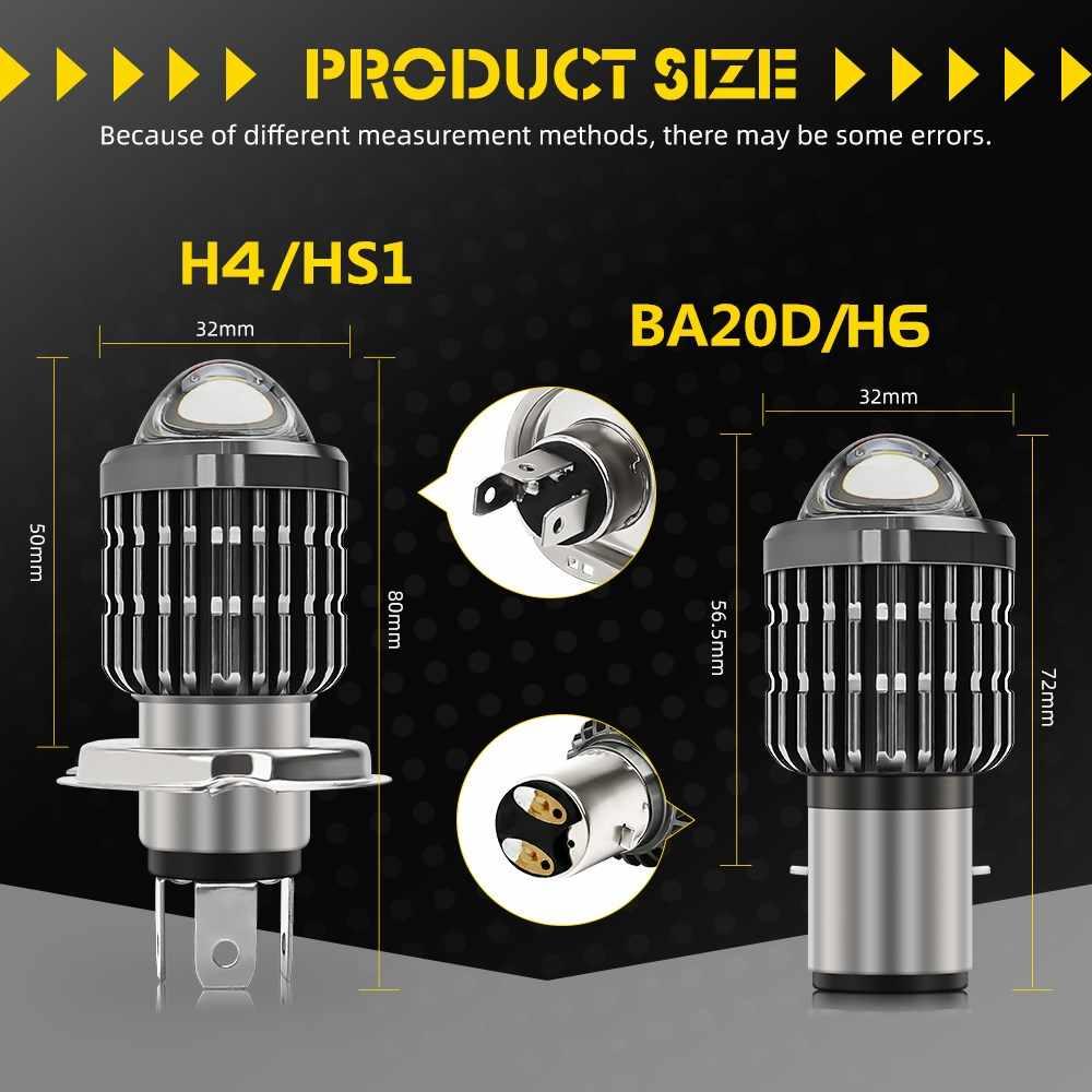 CO светильник H4 H6 BA20D Moto светодиодный светильник на голову мотоцикла, лампы двойного цвета Hi/Lo, противотуманные фары для ATV скутеров, электровелосипедов, фары 12 В 24 В