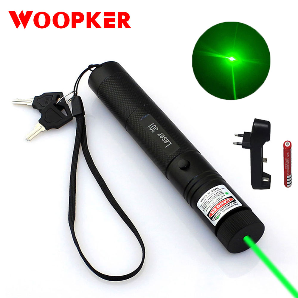 Powerful Adjustable Focus Burning Green Laser Pointer Pen 532nm 5000m Lazer 301 Range Lazer Sight