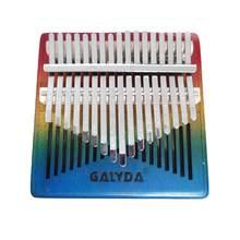 Kalimba-Piano de cuerpo de caoba de 17 teclas, Color Gradual, instrumento Musical Mbira de colores, Mini Piano