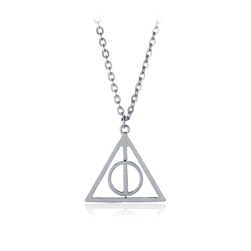 Accessories  The Deathly Hallows Potter Pendant Necklace Retro Triangle Round Sweater Chain Necklace