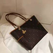 2019 New Mickey Handbag Larger Capacity Female Shoulder Bag PU Leather Women Han