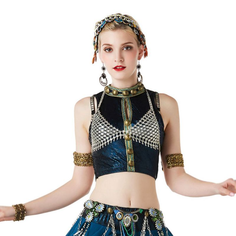 New belly Dance Costume Bra 2020 Sexy Women Hollow Out Belly Dancing Bra