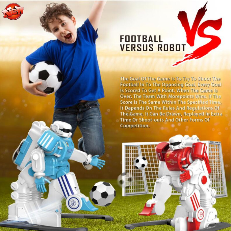 Parent-Child Interactive Multifunctional RC Battle Robot Left/Right Kick Ball Shoot Steal Simulation Football Player RC Robot