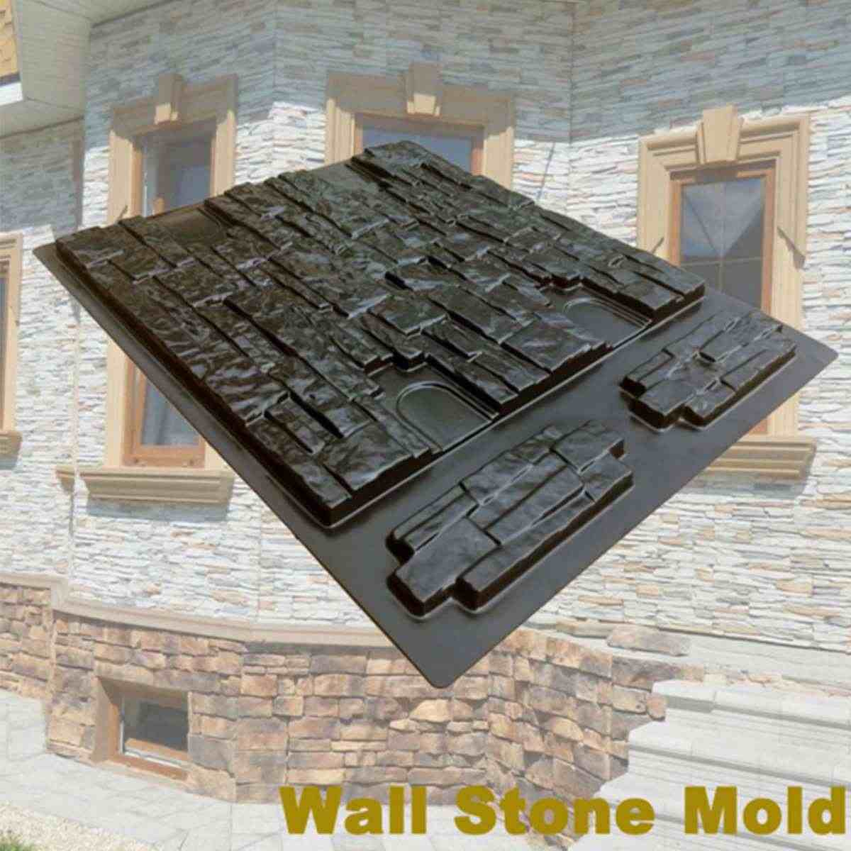 New Molds Concrete New Design Plaster Wall Artificial Stone Cement Tiles Decorative Wall Paving Molds 67 54cm