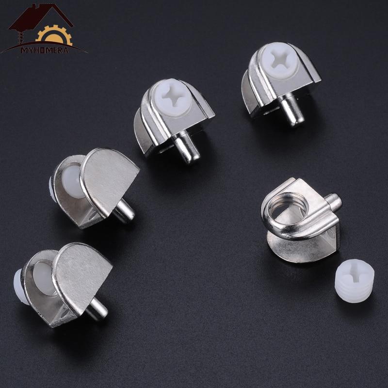 Metal Adjustable Shelf Clip Clamp Holder Bracket 8pcs for 5mm-15mm Thick Glass