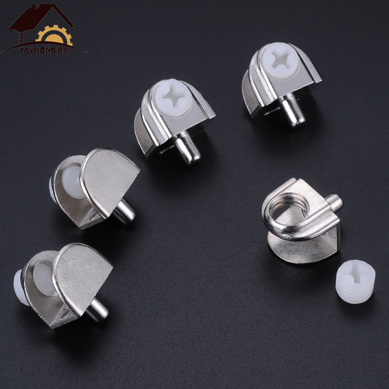 Myhomera 12Pcs Glass Clamps Adjustable Shelves Holder Corner Bracket Clamp For 3mm 5mm 9mm Glass Clips Half Round Wholesale Lot