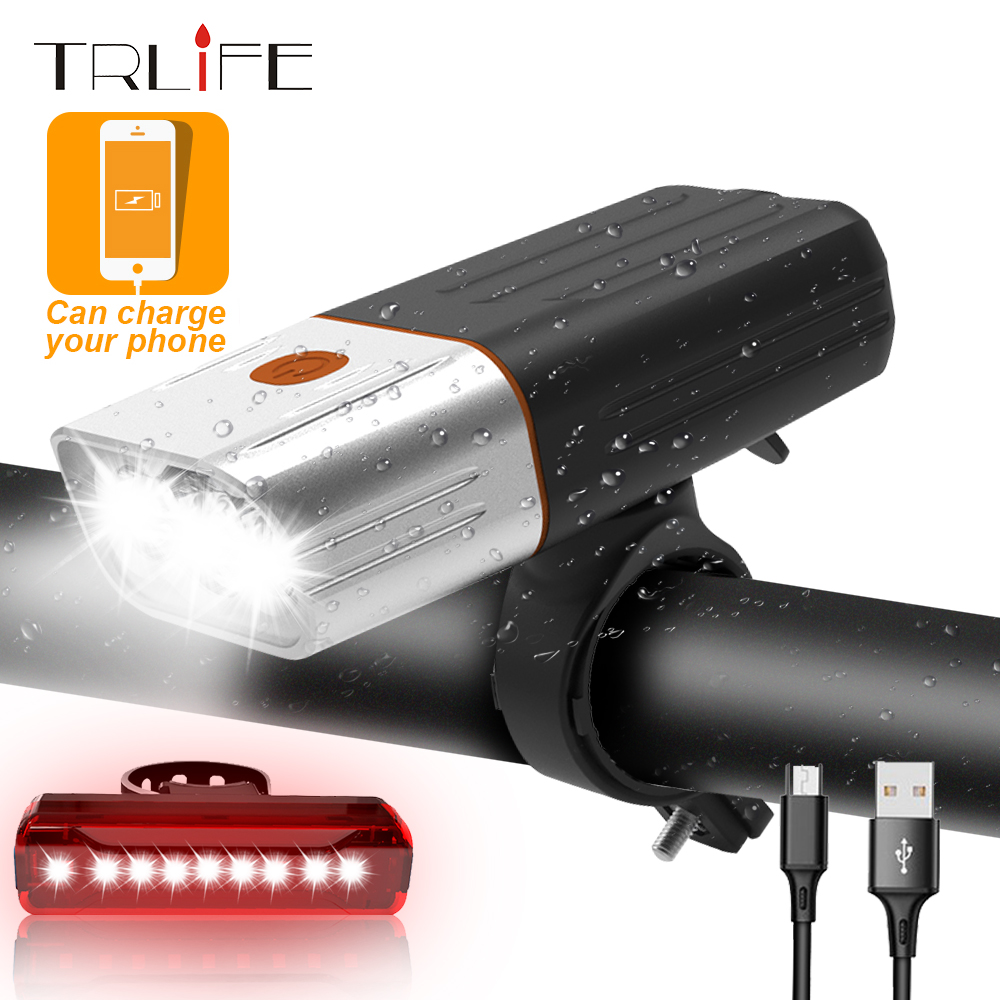 5200mAh Bicycle LED Light 3* L2/T6 USB Rechargeable Bike Light MTB Headlight as Power Bank Taillight Safety Bike Accessories