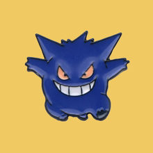 O221 Cute Gengar Enamel Pin Brooches Cartoon Creative Metal Brooch Pins Denim Hat Badge Collar Jewelry(China)