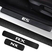 4 pièces autocollant de seuil de porte de voiture pour Lexus RX 300 330 IS 250 300 GX 400 460 UX 200 NX LX LS GS ES CT200h Fsport voiture Tuning accessoires
