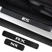4PCS Car Door Sill Sticker For Lexus RX 300 330 IS 250 300 GX 400 460 UX 200 NX LX LS GS ES CT200h Fsport Car Tuning Accessories