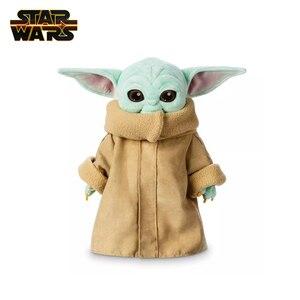 Disney Star Wars 25 см/30 см детская плюшевая игрушка Yoda из мультфильма кукла Мастер Йода Аниме фигурки Мягкие плюшевые куклы Детский подарок