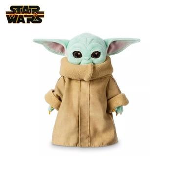 Disney Star Wars 25cm/30cm Baby Yoda Cartoon Plush Toy Doll Master Yoda Anime Figures Stuffed Plush Doll Kids Gift цена 2017